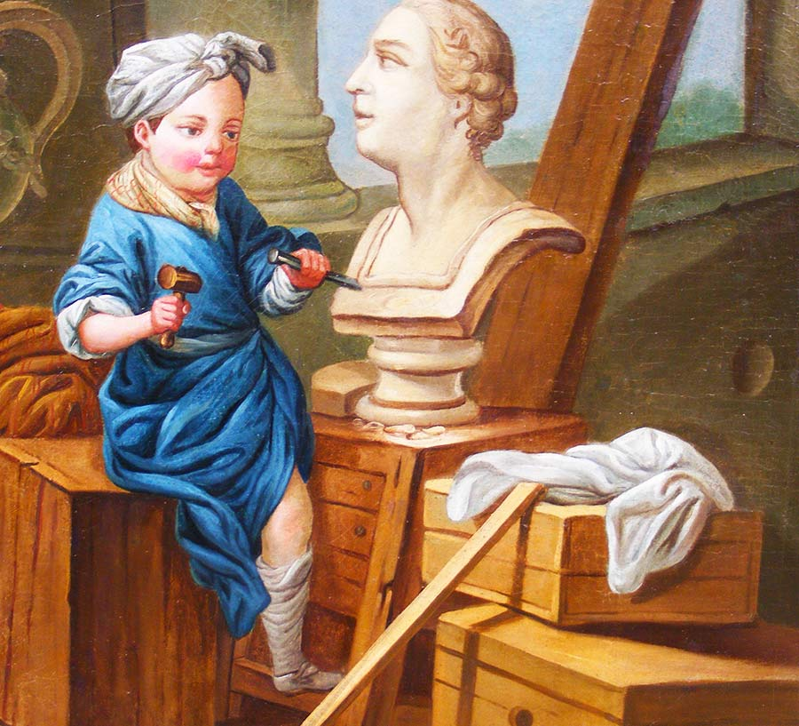 conservatrice et restauratrice d'œuvres d'art à Mer │ Dominique Eymond